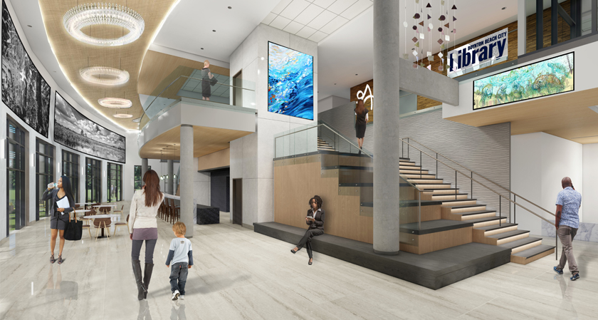 Rendering of new City Hall Lobby