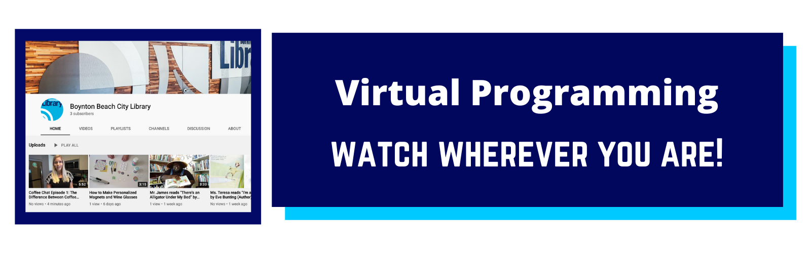 Virtual Programming, watch wherever you are.