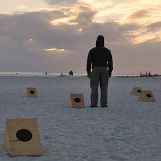 sun boxes kinetic art on sand