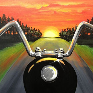 Sunrise Motorcycle Ride