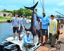 Blue marlin caught in ocean waters off Boynton Beach