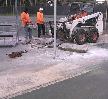 sidewalks being fixed