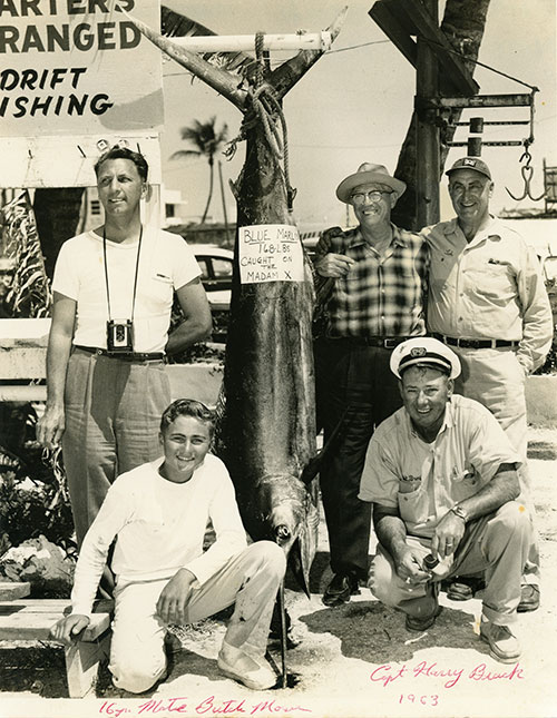 group posed with marlin 1963.