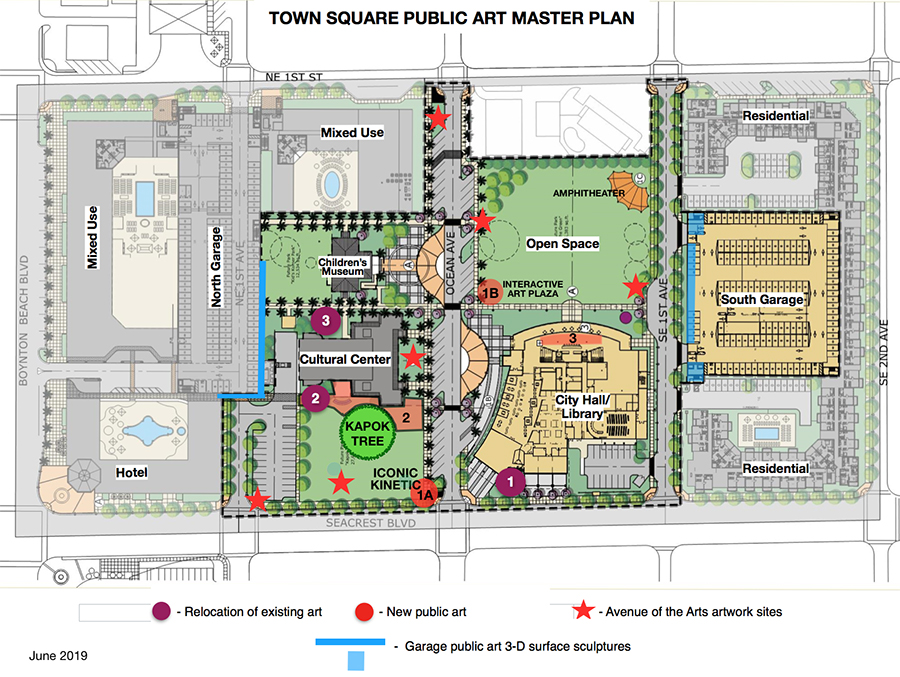 Map of Town Square Master Plan