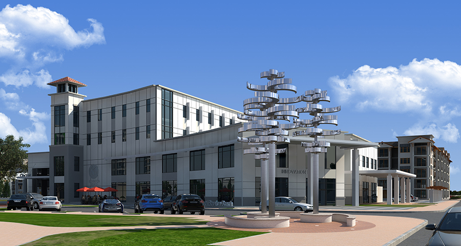 "Rendering of Kinetic Sculpture ""Reflections"" by EES designs"