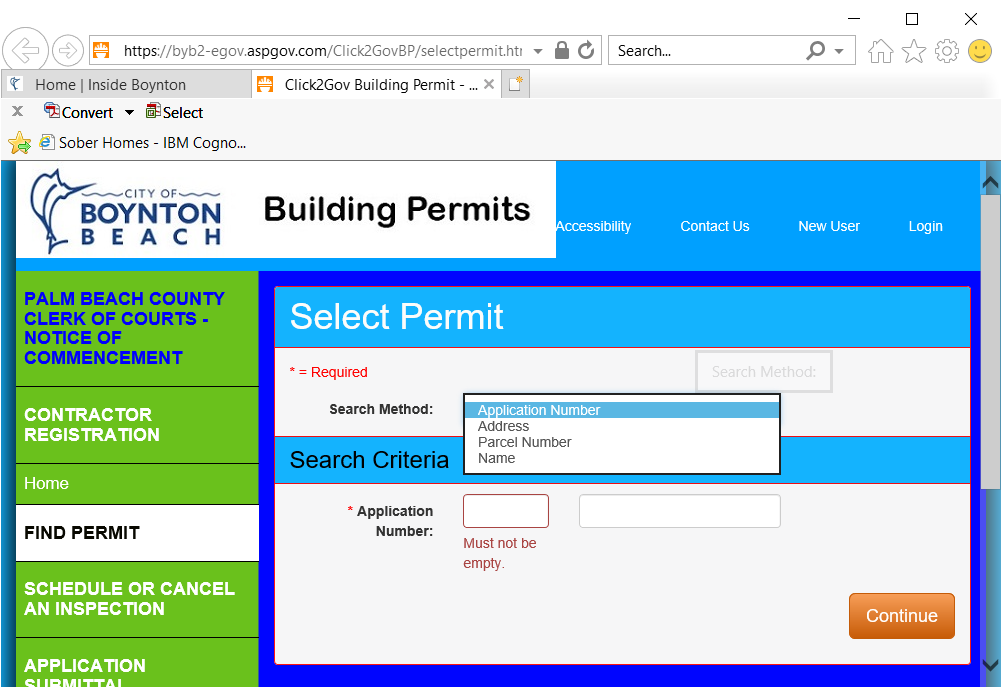 current permit applications and never closed out: Building Permit - Select Permit