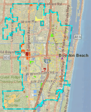Boynton Beach Florida Map Planning and Zoning | City of Boynton Beach