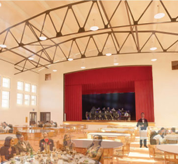 Rendering of Cultural Center interior