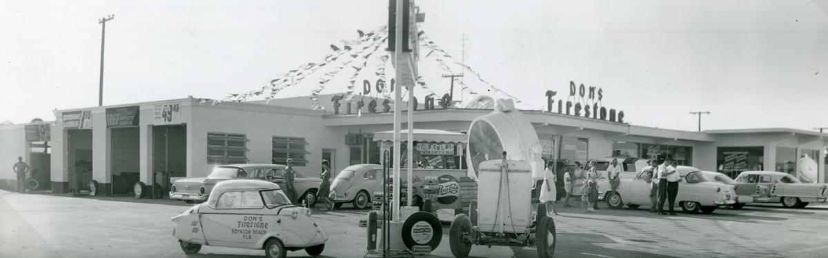 Car dealership in 1950s Boynton.