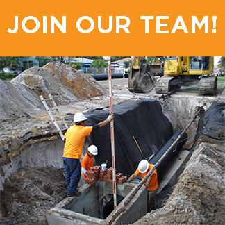 utility workers with join our team words