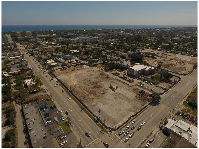 Aerial photo of Town Square site looking southeest (3-12-19)
