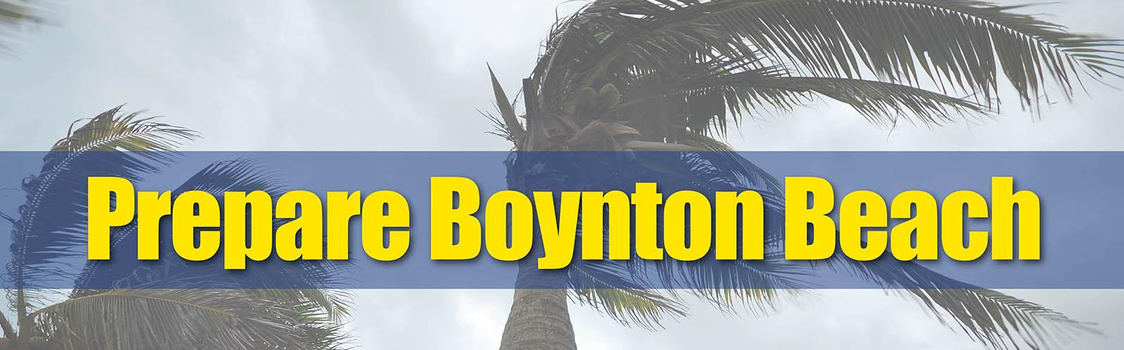 prepare boynton beach with trees in background