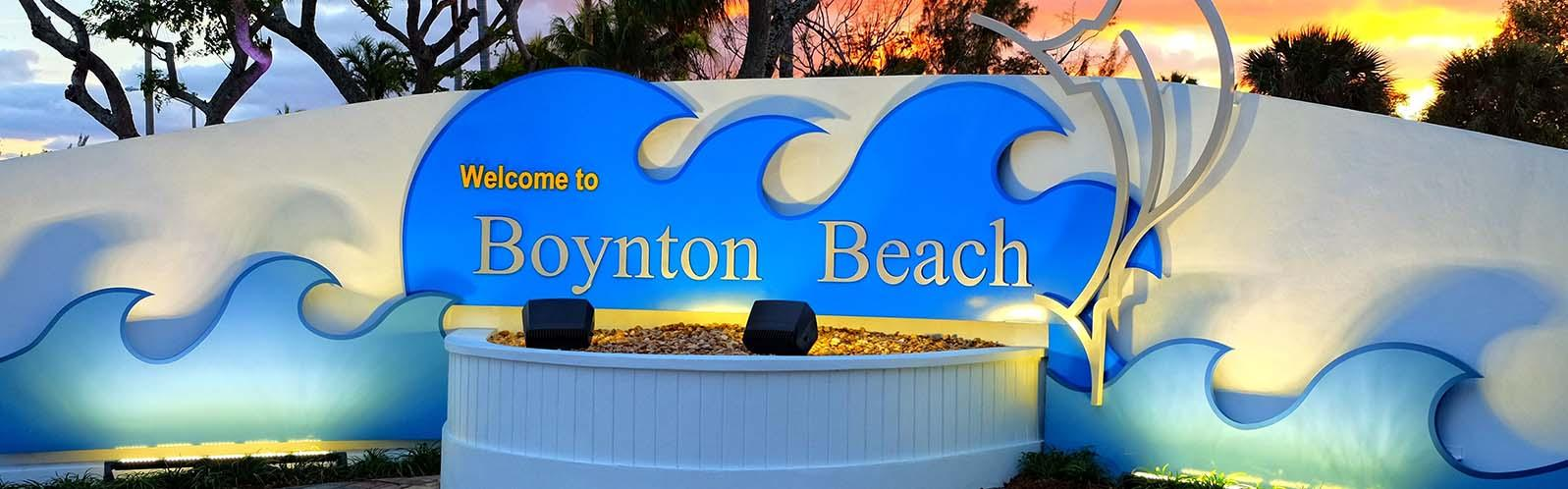 welcome to boynton sign