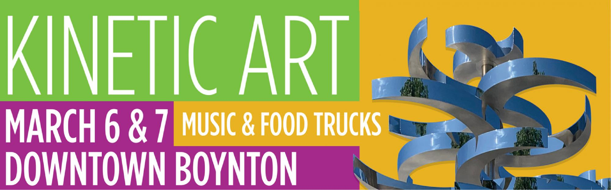 kinetic art march 6 and 7 downtown boynton
