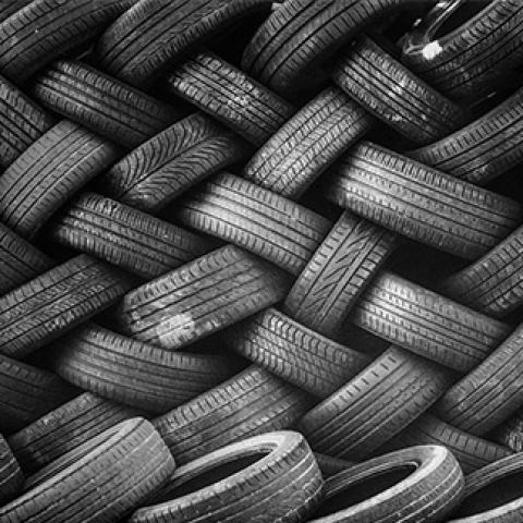 pile of tires