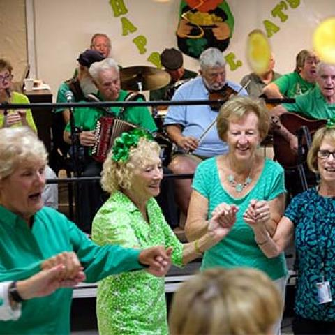 st. patrick's day party at the senior center