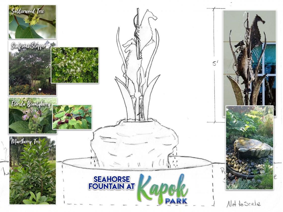 Image of Seahorse Fountain Design